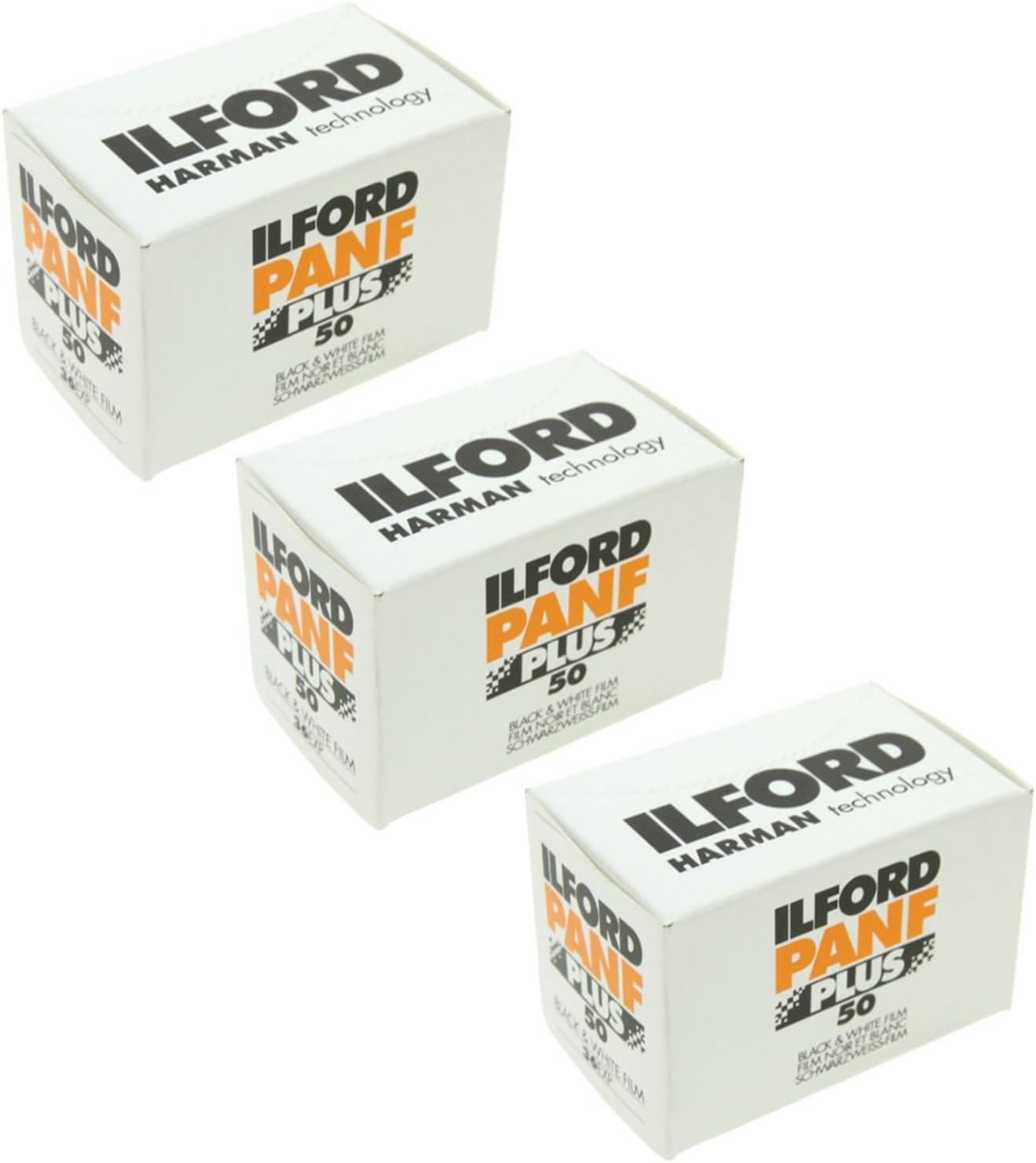 3 paquetes de película Ilford Delta 135 3200-Blanco//Negro 36 exposiciones