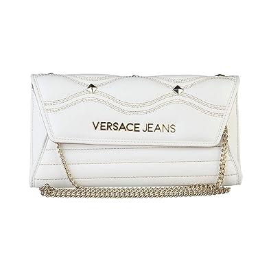 eda55819a7 Women Clutch Bag Versace Jeans White Women Genuine Designer Clutch Bag:  Amazon.co.uk: Shoes & Bags