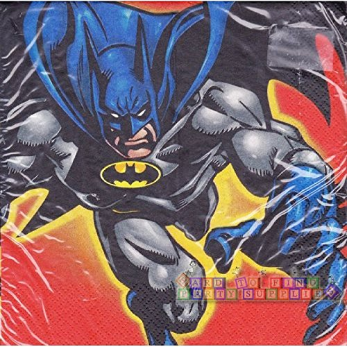Batman Vintage Large Napkins (16ct) by Hallmark B00005EBD6