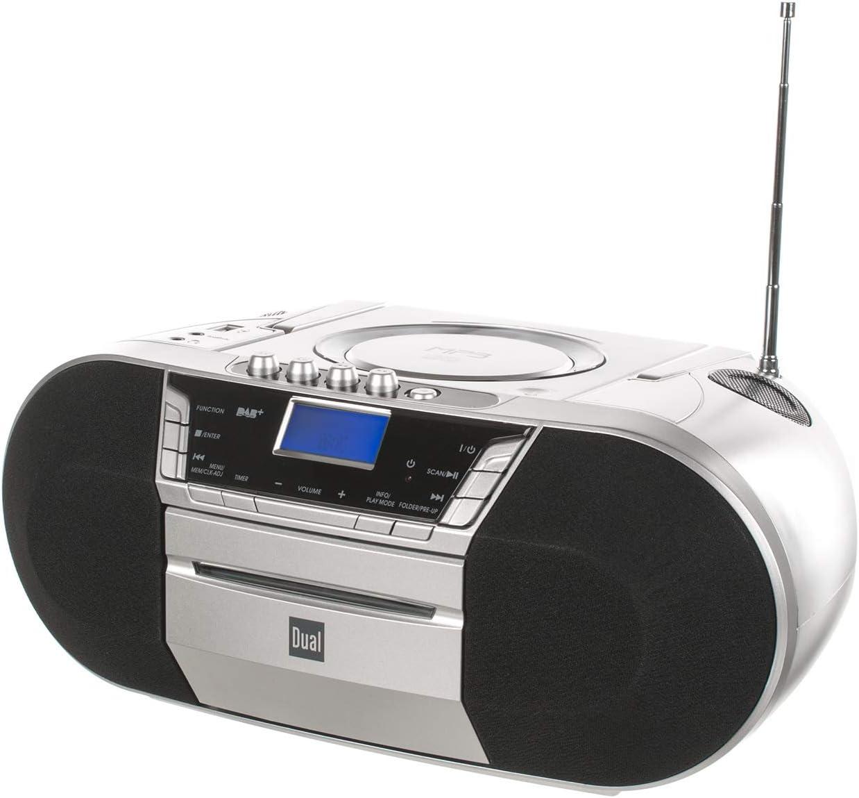 Dual Dab-P 200 Boombox avec Lecteur Cassettes argent/é