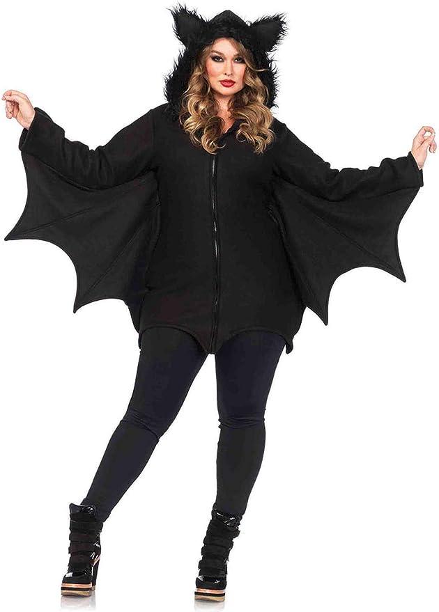 Leg Avenue Women's Cozy Black Bat Halloween Costume, Small