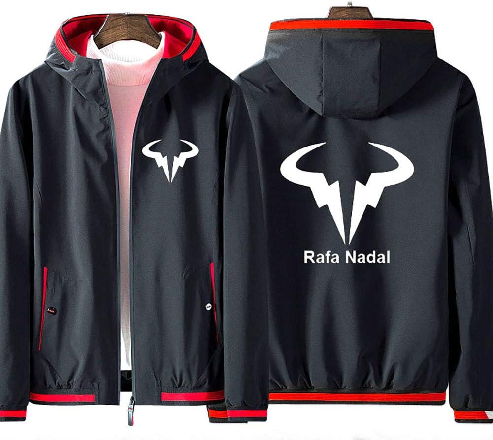 No Shirt 73HA73 Kapuzen Sweatshirt Herren Full Zip Hoodie Tennis Grand Slam Rafael Nadal Jacke ATP No.1 Langarm Komfortable Sweatshirt Unisex
