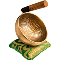Tibetan Handmade Singing Bowl Set By YAK THERAPY - Om Mani Padme Hum - Excellent Resonance Healing & Meditation Yoga…