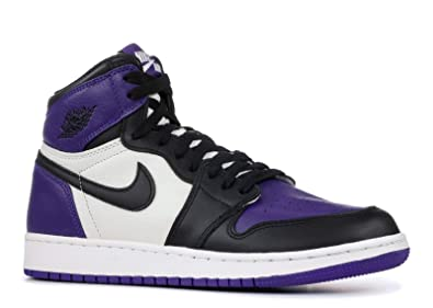 0c12c881711 Image Unavailable. Image not available for. Color  Nike AIR Jordan 1 Retro  HIGH OG GS  Court Purple  ...