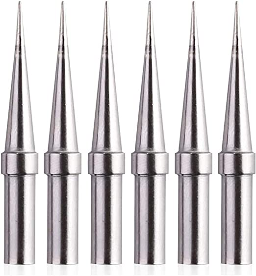 6Pcs Replaces Tips Weller ET Soldering Iron For WES51//50 WESD51 WE1010NA PES5