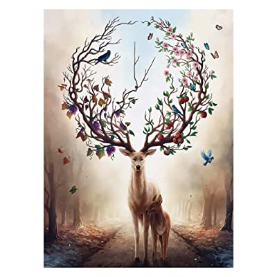 chuwa Puzzles for Adults 1000 Piece Jigsaw Puzzles The Deer Large Puzzle Game Toys Kids Gift Fun Relaxing and Challenging: Toys & Games