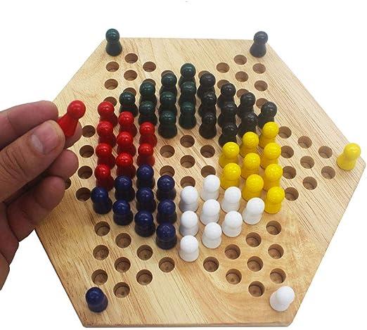 QWEA Damas Chinas Juegos de Mesa de Tablero de Madera con Juguetes ...