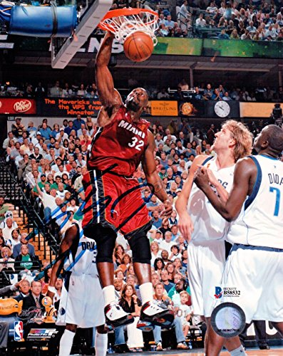Shaquille O'Neal Signed Autographed 8X10 Photo Miami Heat Big Dunk Beckett
