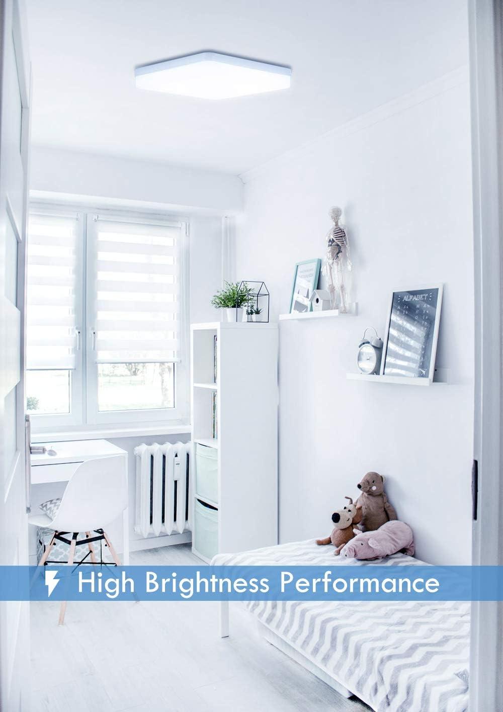 Yafido LED Deckenleuchte 36W 3240LM Warmweiss Moderne Quadratische Deckenlampe F/ür K/üche Schlafzimmer Wohnzimmer Esszimmer Balkon
