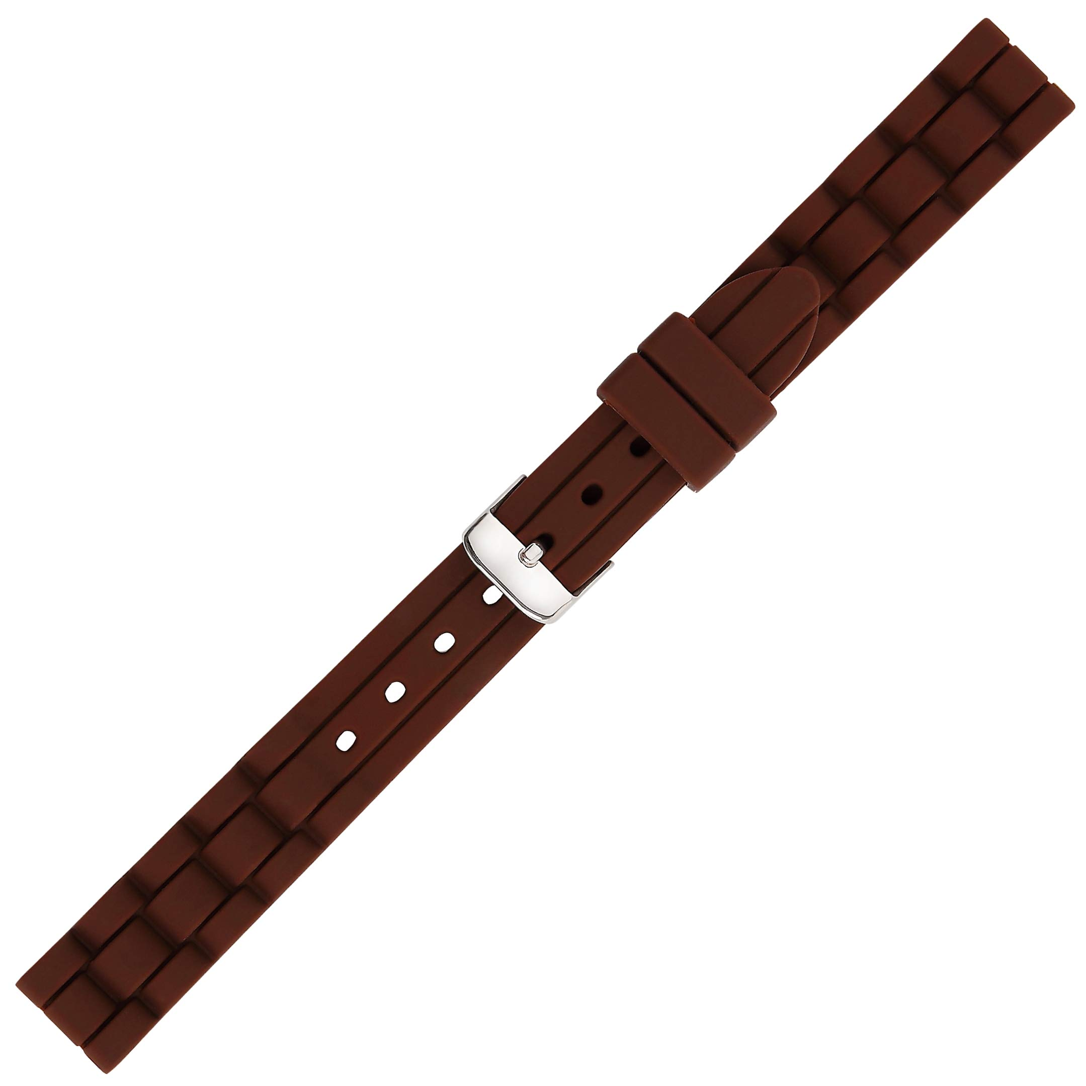 Kiiso Boy's and Girl's Textured Siicone Sports Watch Bands 14mm (Brown) by Kiiso