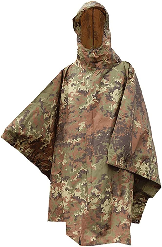 MIL-TEC RIPSTOP PONCHO WATERPROOF HOODED ARMY FESTIVAL MILITARY CAMPING