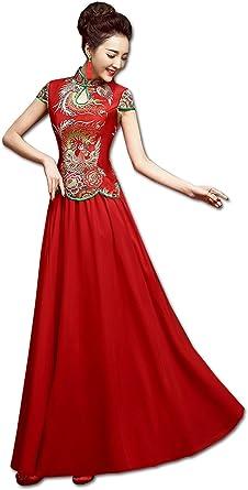 Amazon Com Show Wo Dress Qipao Wedding Qipao Wedding Dress Bride