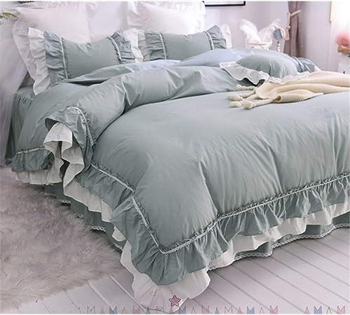 Textiles para Fundas para edredón Edredón de algodón Princesa Wind Girl Lace Sheet Edredón, Verde, 1.2 m: Amazon.es: Hogar