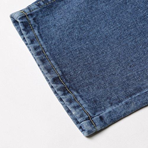 De Mujeres Talle Alto Pantalones Azul Casual Denim Pantalon Retro Gran De Tamaño Rotos Moda Vaqueros Lihaer Jeans ETqvx