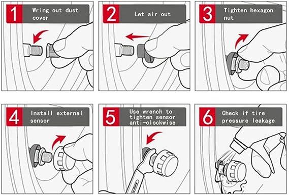 Fydun Appareil de contr/ôle automatique de pression des pneus C-260 Solar TPMS avec capteur externe