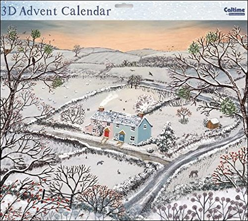 Large Christmas Advent Calendar - (WDM419386) - Midwinter Morning - From The Caltime Range - Glitter Varnish Woodmansterne