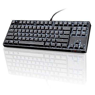 VELOCIFIRE TKL02 Mechanical Keyboard TKL 87 Key Tenkeyless Ergonomic