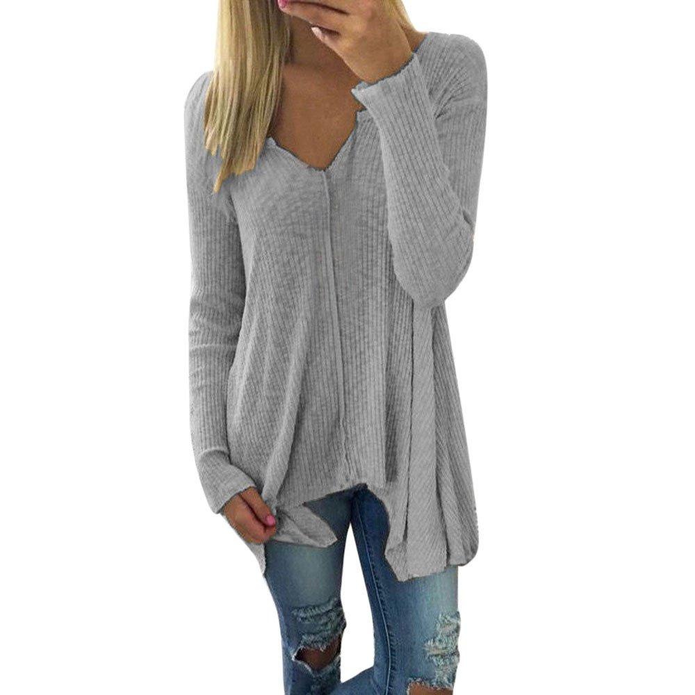 Womens Sweaters Clearance Sale! Women's Batwing Sweater Jumper Oversize Sweatshirt Pullover Blouse Tops