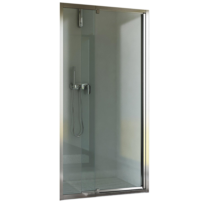 Shower Enclosure Pivot Door 850mm H2000 Clear Glass Mod Dakota