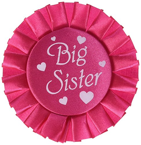Beistle 60485 Big Sister Satin Button, 3-1/2-Inch