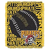 MLB Pittsburgh Pirates 48 x 60-Inch Double Play Jacquard Triple Woven Throw