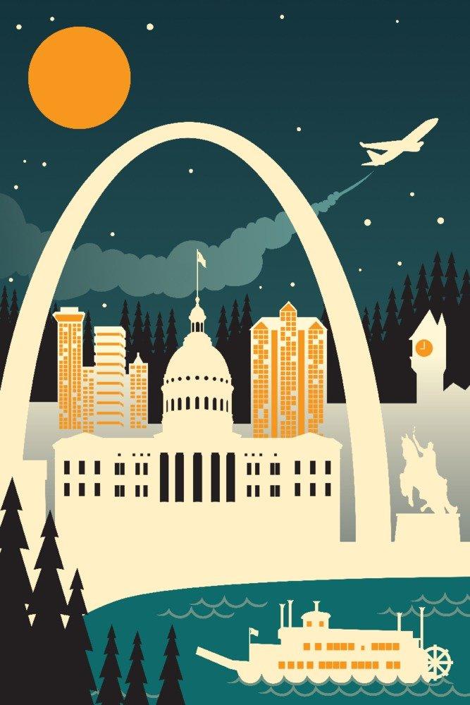 愛用  セントルイス x、ミズーリ州 – レトロスカイライン( Bag no text ) Canvas 9 Tote Bag LANT-78405-TT B01NAU3W1T 9 x 12 Art Print 9 x 12 Art Print, 小城町:587fdb4a --- arianechie.dominiotemporario.com