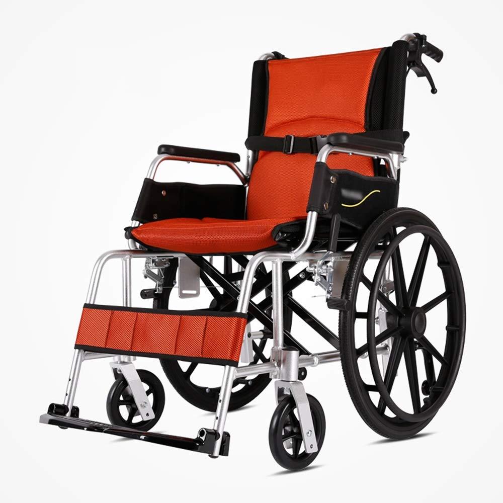 完成品 FEIFEI Orange FEIFEI 軽いバロウの老人アルミの超軽量ポータブル車椅子 (色 : Orange) Orange (色 B07GXDF1TR, ファイト:0422d18d --- a0267596.xsph.ru