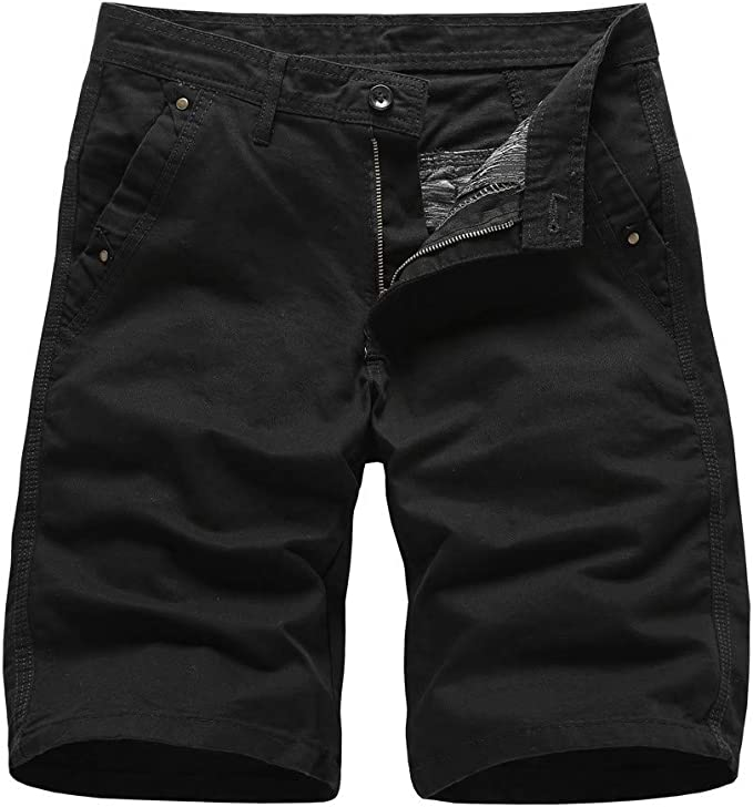 Alangbudu-Mens Pants Beach Casual Elastic Waist Loose Fit Work Drawstring Cargo Trousers with Pockets Yoga