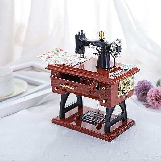 Bulufree Tipo de pedal Máquina de coser Caja de música Regalo antiguo Juguetes educativos musicales Decoración para el hogar Accesorios de moda: Amazon.es: Instrumentos musicales
