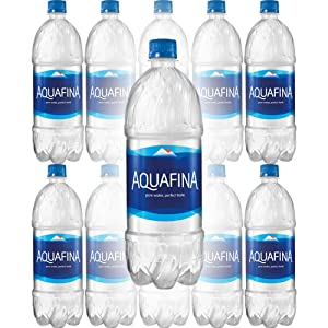 Aquafina Water, Pure Water, Perfect Taste, 20 Fl Oz (Pack of 10, Total of 200 Fl Oz)