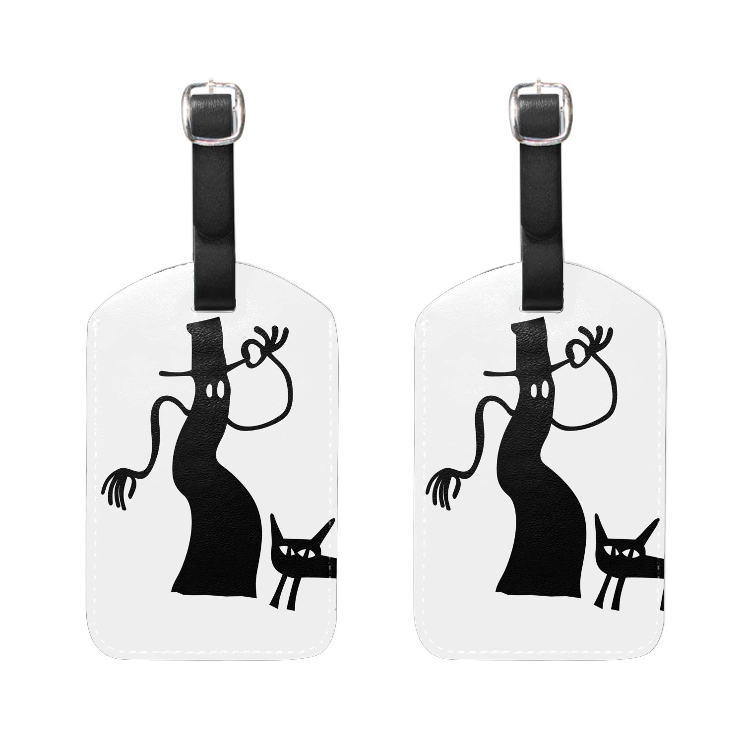 Dog Housekeeping Staff Print Luggage Identifiers with Strap Closure