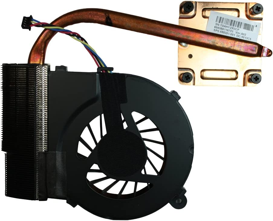 Power4Laptops Integrated Graphics Version 4 Replacement Laptop Fan with Heatsink Compatible with HP G62-420CA Please Check The Picture