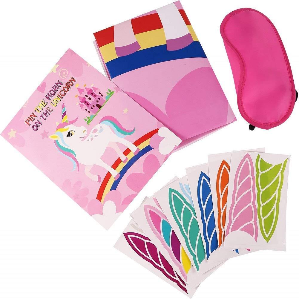 Anniversaire Licorne Fille Kits de f/êtes f/ête Enfant Pin The Horn id/ée Cadeau Pi/ñatas Howaf Jeux pour f/ête Licorne