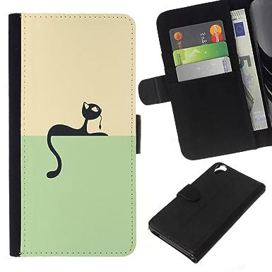 Minimalist Cat & Mouse Game - Flip Credit Card Slots PU
