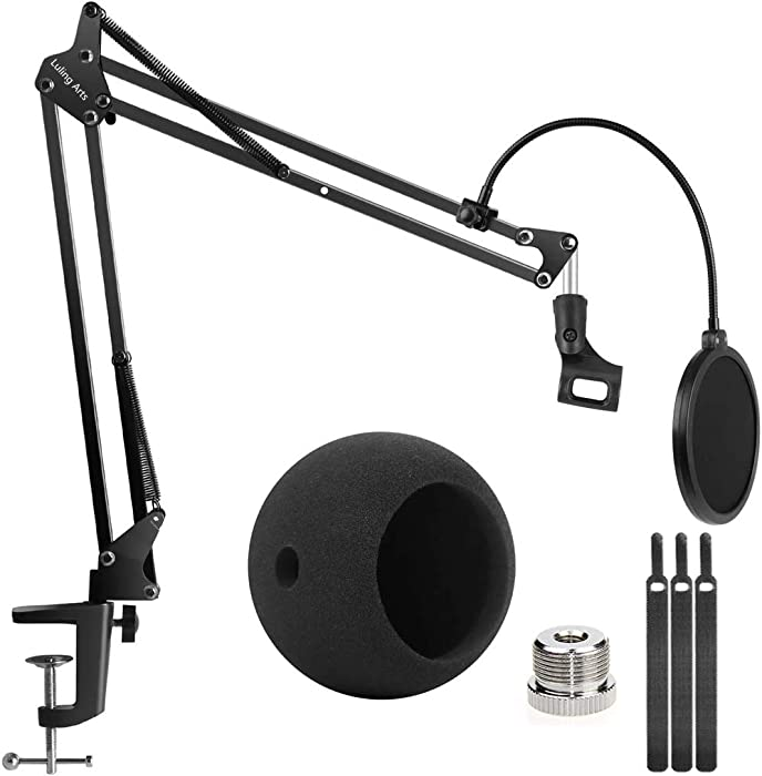 The Best Desktop Microphone Stand With Shock Mount And Filter
