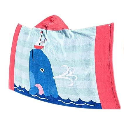 Delfín con capucha Princesa toalla de playa para baño piscina natación poncho toalla