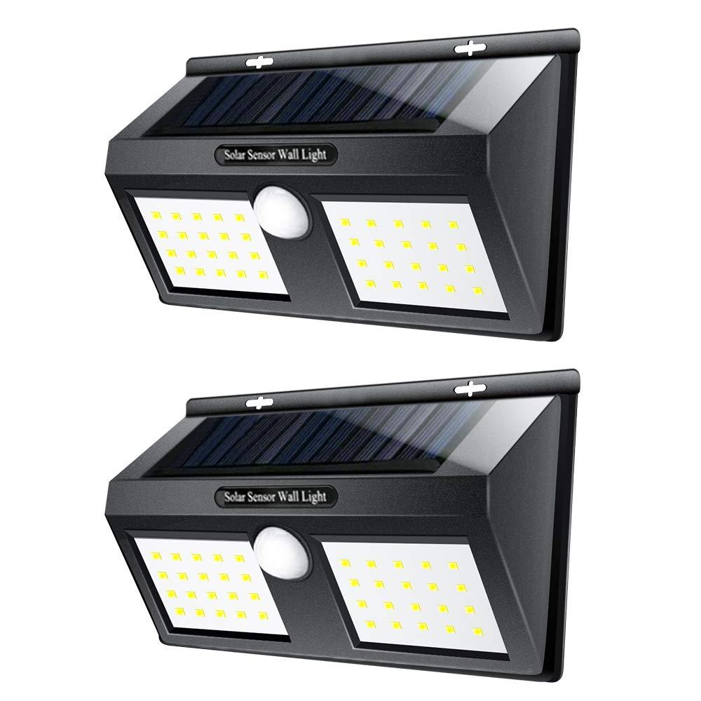 LTPAG 2pcs Luces Solares LED Exterior, 40 LED Foco LED Solar con Sensor de Movimiento