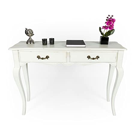vintage console table. Homescapes Vintage Console Table With Cabriole Legs New Orleans, French Shabby Chic Style, Solid E