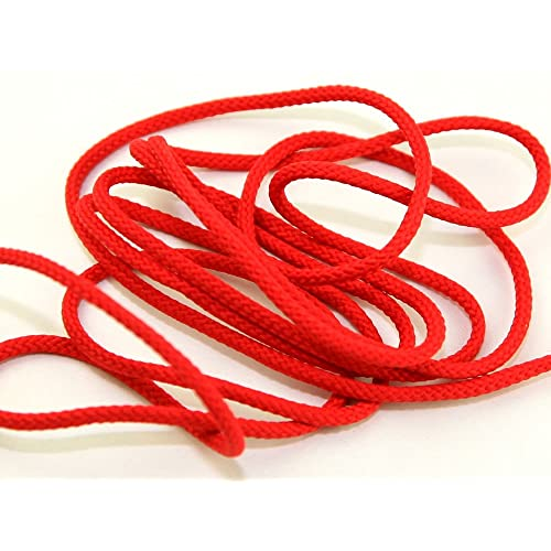 4mm wide Polyester Cord Haberdashery Red - per metre