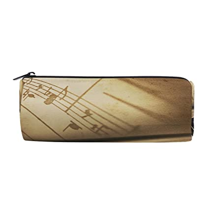 alaza pencil case retro tone piano with music notes pen pencil bag zipper for school boy