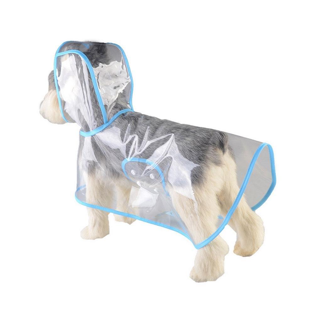AOLVO Manteau de Pluie Poncho de Pluie Chien Transparent étanche Chiot Veste imperméable Animal Domestique Vêtements Chiens de Petite/Moyenne/Grande