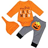 Halloween Baby Overalls Playsuit Schlafanzug Spielanzug Lange Ärmel Romper Jumpsuit