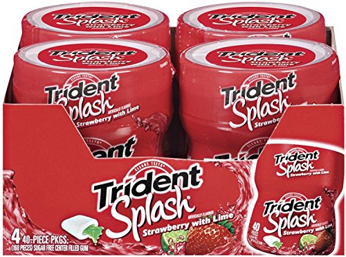 Cheap Trident Splash Strawberry with Lime Sugar Free Gum – 4 Packs (160 Pieces Total)