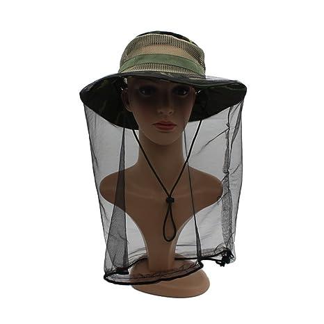 77c889c73303f Amazon.com  Camouflage Mosquito Hat