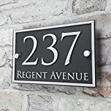 HOUSE SIGN SOLUTIONS House Number Sign/Address Plaque Door Number Personalised Sign
