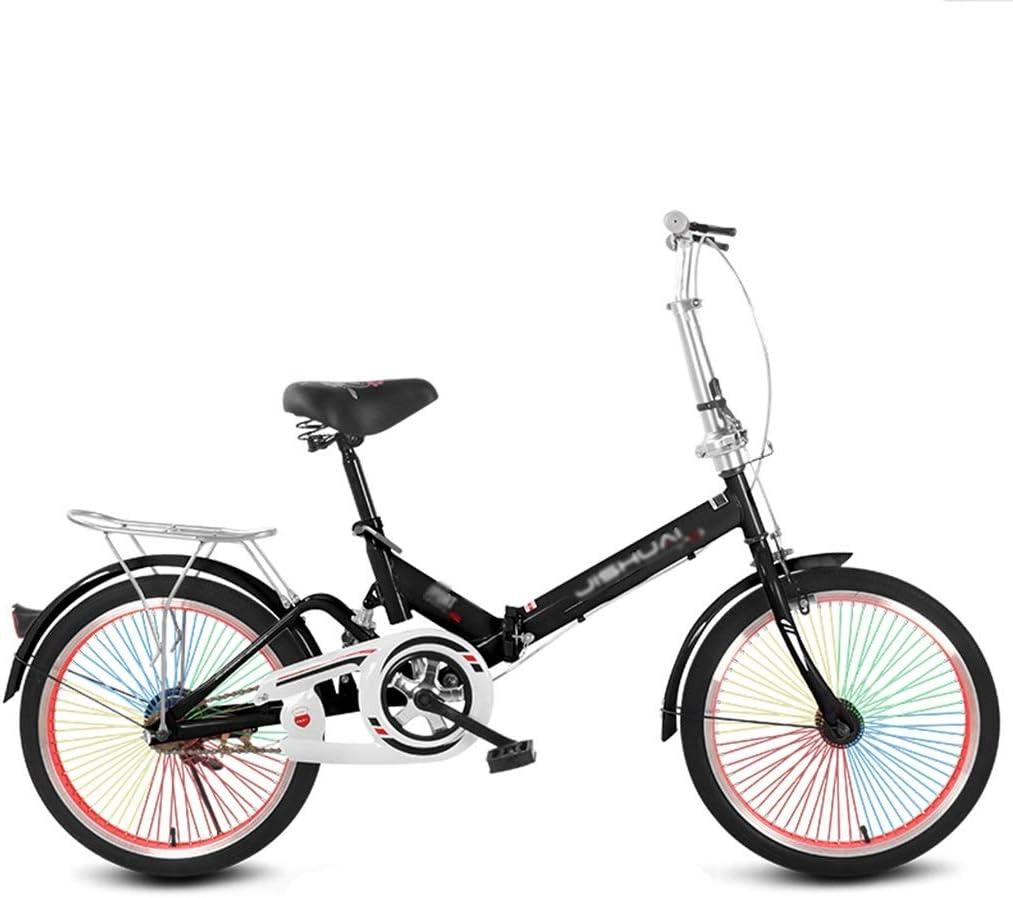 Bicicletas Triciclos Plegable Adulta De 20 Pulgadas Viaje del Estudiante Ocio Al Aire Libre Verano (Color : Blue, Size : 20INCH)