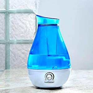HealthSmart Mist XP Cool Mist Ultrasonic Germ-Free Humidifier, Whisper Quiet, Runs up to 24 Hours, Filter Free, Blue