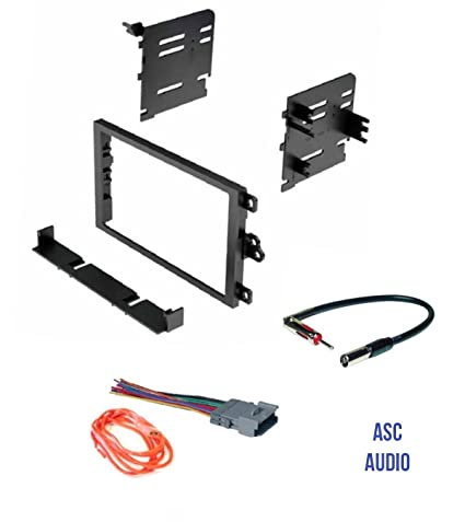 ASC Audio Car Stereo Dash Kit, Wire Harness, and Antenna Adapter to Add a  Double Din Radio for some Buick Chevrolet GMC Hummer Isuzu Oldsmobile