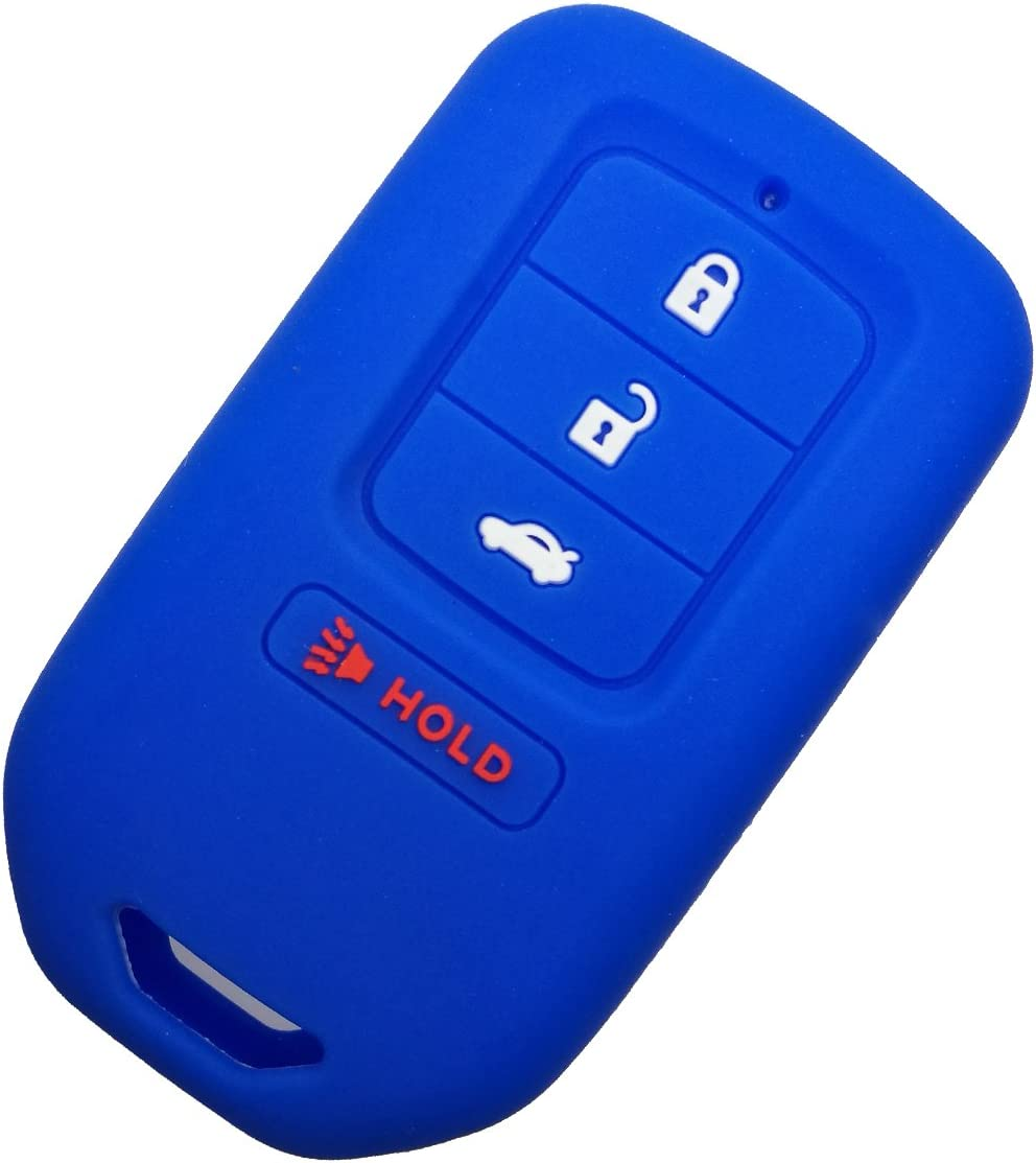 Alegender Rose Rubber Car 4 Buttons Smart Key Fob Cover Holder Case Full Protector for Honda Accord EX EX-L Civic keyless Entry