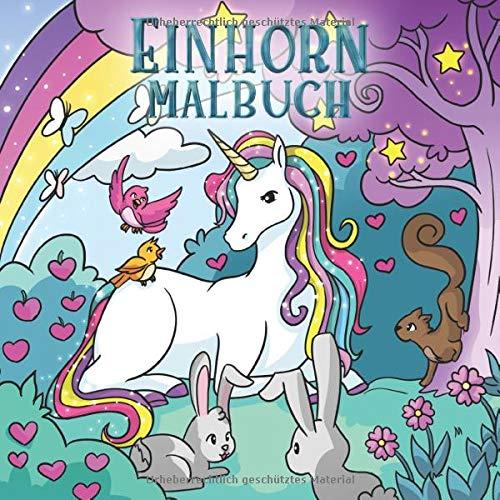 Einhorn Malbuch  Für Kinder Im Alter Von 4 8 Jahren  Malbücher Für Kinder Band 4